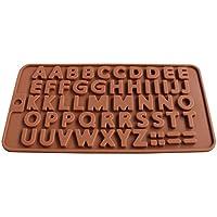 blisscomdep A to Z Lettersシリコン金型DIYチョコレート/クッキー/キャンディ/Ice/マフィン/フォンダン/ケーキ金型 4128DB19WGHTHK