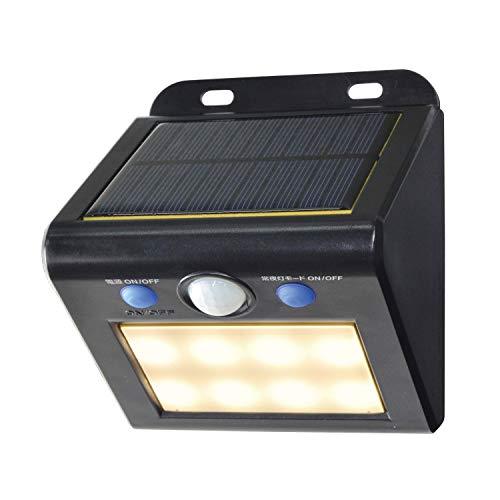 朝日電器 エルパ LEDセンサーウォールライト ソーラー発電式...