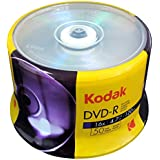 Kodak DVD-R Kodak DVD-R 4.7GB 16x Spindle 50 Pack, (570050)