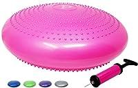 Wobbleクッション安定性Disc by pavandeep Inflatable Exerciseバランスボードのコアトレーニング&アクティブに座っているデスク椅子–Freeポンプ含ま