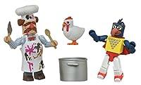 """Minimates- The Muppets- """"Stunt Show"""" Gonzo & """"Batter Damaged"""" Swedish Chef"""