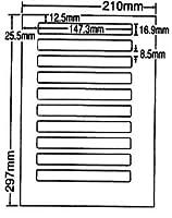 LDW10B-2 OAラベル ナナワード (147.3×16.9mm 10面付け A4判) 2梱(レーザー、インクジェットプリンタ用。上質紙ラベル)マルチタイプ