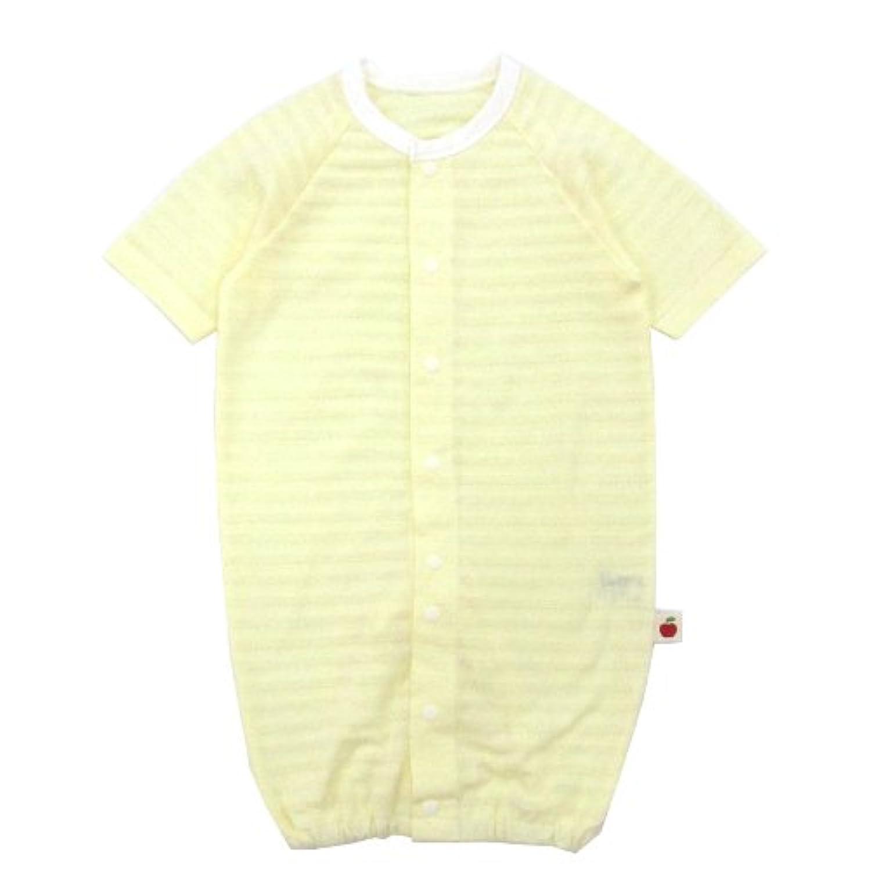 ◇日本製◇ 天竺七分袖ツーウェイオール ボーダー(クリーム) 50-60cm 日本製 綿100%