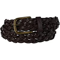 Off Limits Kid's Leather Braided Belt