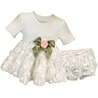 Stephan Baby Girl's Night Out Chiffon Rosette-skirted Top and Diaper Cover, 6-12 Months by Stephan Baby [並行輸入品]