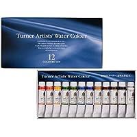 ターナー色彩 専門家用透明水彩絵具 12色セット WT00512C 5ml