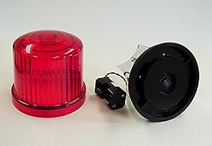 新型・LED回転灯 赤色【回転・点滅】 電池式MK-Ⅱ 強力マグネット付 単3x4本 LS-HKZ0044