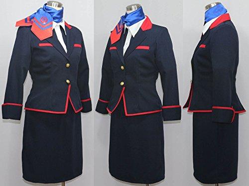 【ノーブランド品】2241日本航空 JAL CA制服 コスプレ衣装(女性L)