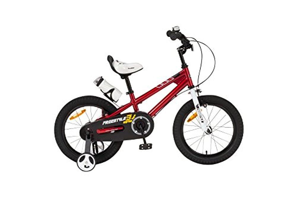 好み北方ぬるいROYALBABY(ロイヤルベイビー) 補助輪付き 子ども (幼児向け) 自転車 レッド  [メーカー保証1年]  フルカバーチェーンケース ボトル&ボトルケージ付属  RB-WE FREESTYLE