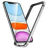 ESR iPhone 11 / iPhone XR ケース バンパー 6.1インチ [アルミ+シリコン 二重構造] 衝撃吸収 薄型 軽量 ストラップホール付き 電波に影響無し 耐衝撃 iPhone 11 / iPhone XR專用スマホケースバンパーケース (シルバー)