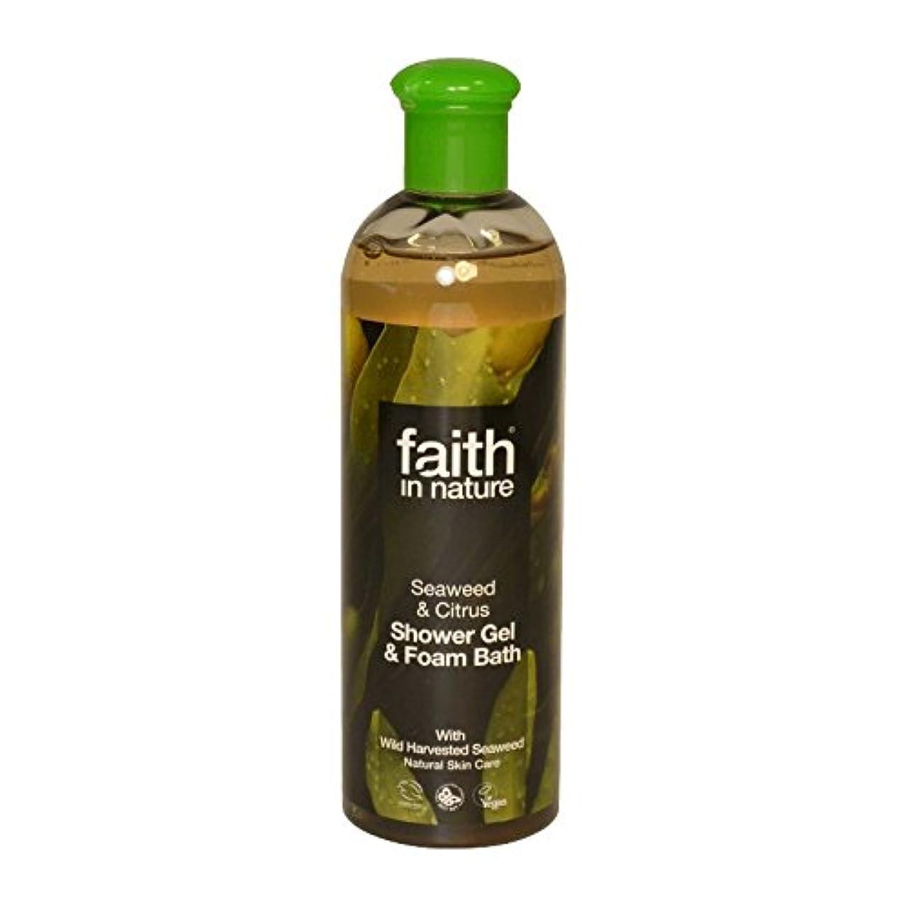 ほかに辞任神Faith in Nature Seaweed & Citrus Shower Gel & Bath Foam 400ml (Pack of 2) - 自然の海藻&シトラスシャワージェル&バス泡400ミリリットルの信仰...