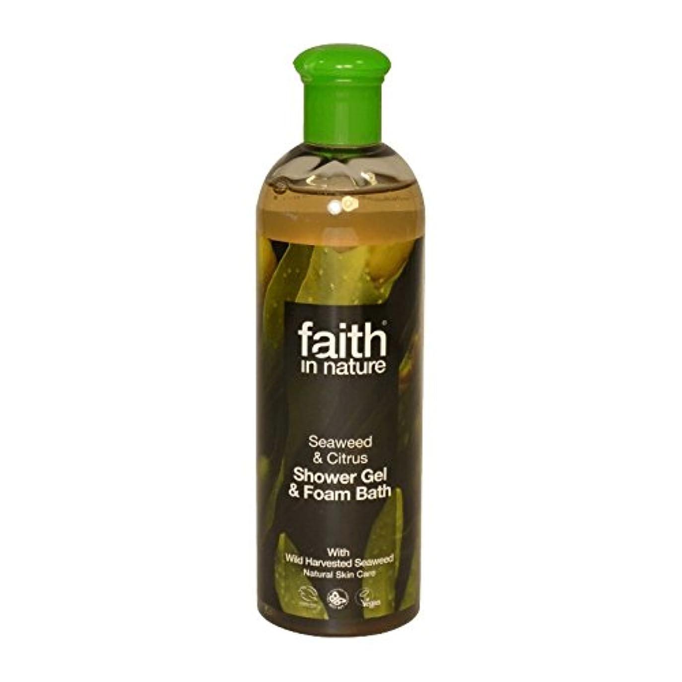 そこ見えない施しFaith in Nature Seaweed & Citrus Shower Gel & Bath Foam 400ml (Pack of 6) - 自然の海藻&シトラスシャワージェル&バス泡400ミリリットルの信仰...