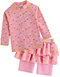 [Vaenait Baby] 2-7歳UVカット ラッシュガードベビー子供男の子長袖上下セット水着 Pineapple S
