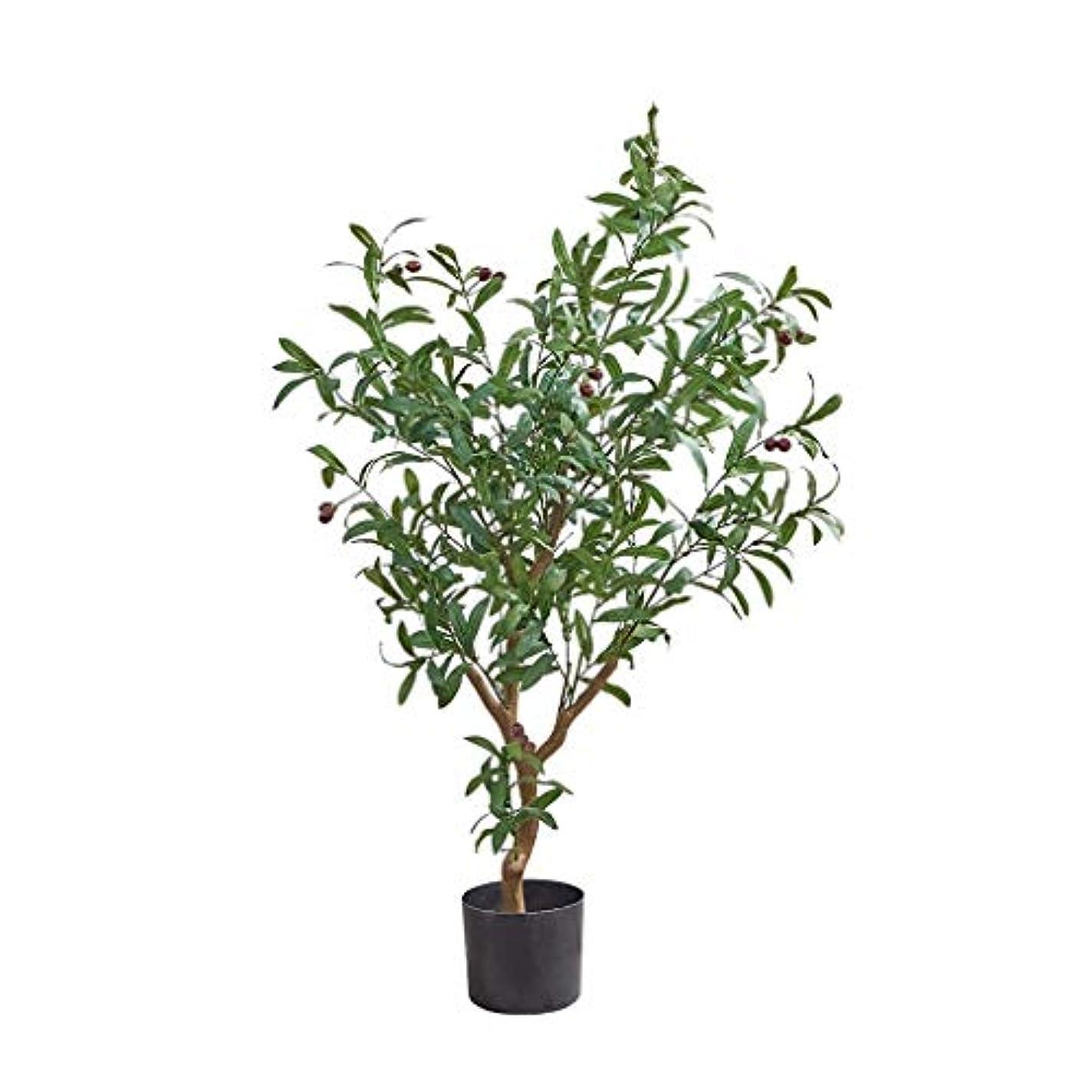 ぐったり洗練された銃家族人工木 人工ツリーオリーブの木シミュレーション緑の植物リビングルームインテリアリビングルームのフロア大型プラントの装飾シミュレーションツリー 人工観葉植物 (Color : 120cm)