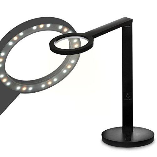 スイートライト スタンダード 円形配列 LED デスクライト 5段階光量調節機能付き(ブラック)