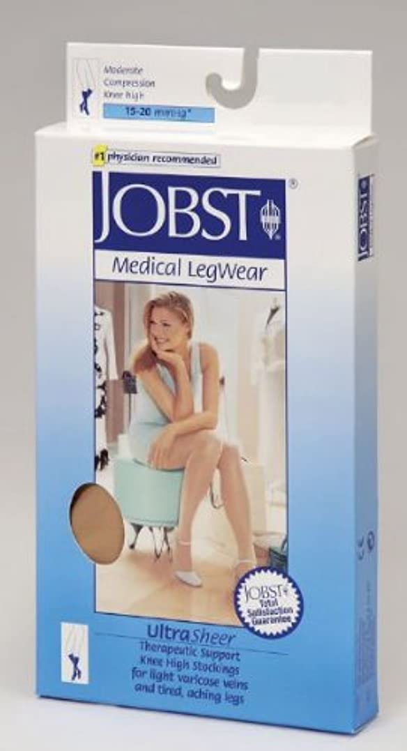 メンター一族なくなるJobst UltraSheer Knee High Closed Toe 15-20mmHg, LFC, Black by BSN Medical