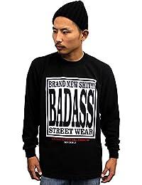 4535 BADASS バダス 長袖Tシャツ BADASS OFFICIAL LONG TEE / ブラック (2XL)