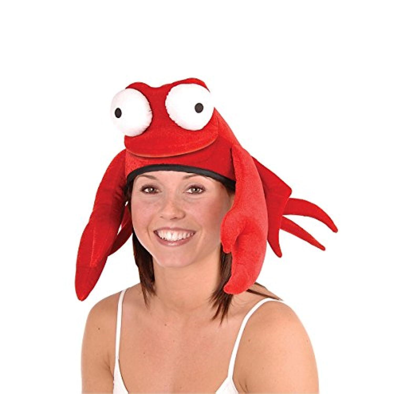 パックの6派手Large Claw Red King Crab Soft Plushパーティー帽子
