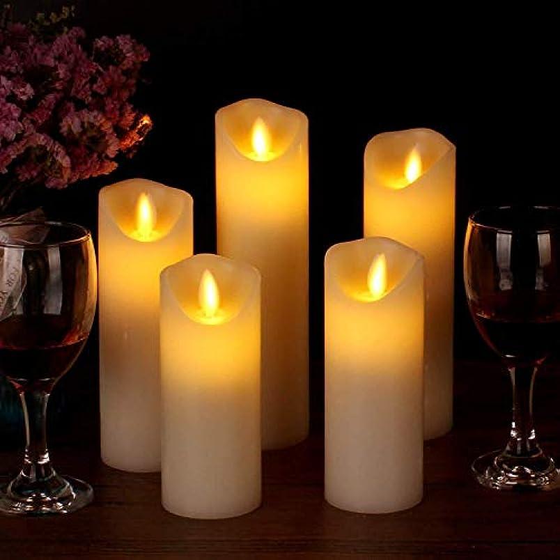 花瓶メモけん引処置 LEDキャンドルランプスリーブ5つのリモートホリデーデコレーション