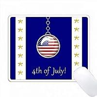 愛国心の旗チャーム、7月4日 PC Mouse Pad パソコン マウスパッド