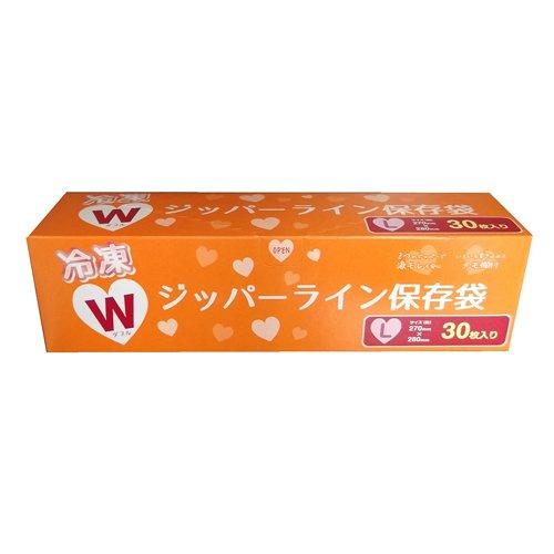 コーナンオリジナル 冷凍ダブルジッパーライン 保存袋 L 30枚入り