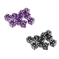 sharprepublic 6面ダイス アクリルサイコロ 骰子 カップゲーム 家庭ゲーム  約16ミリメートル 約20個入り