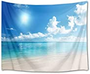 LB Beach Landscape Tapestry Fashion Wall Hanging Tropical Sunshine Sea Decor Wall Art Multifunctional Home Dec