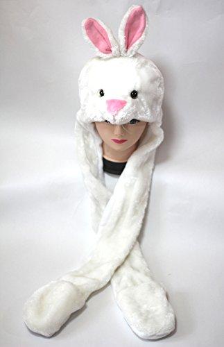 amaletPlay 着ぐるみ 帽子 動物シリーズ ウサギ(ホワイト) ロング