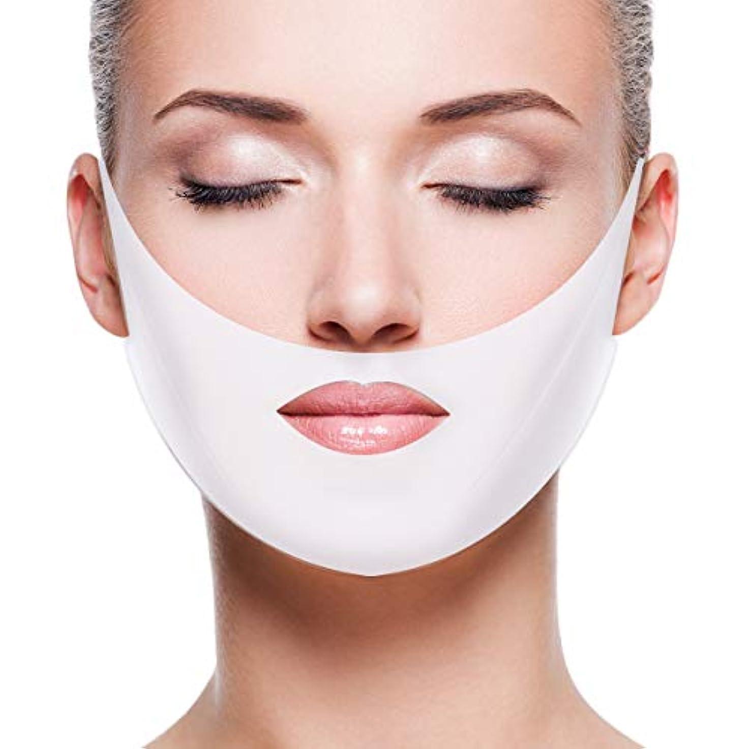 永久に起きろ可動Creacom 小顔 マスク フェイス マスク 顔パック 顎サポーター リフトアップ 引き締め 法令線 予防 抗シワ 通気性抜群 美容グッズ 小顔美人 男女兼用 3/5枚入り