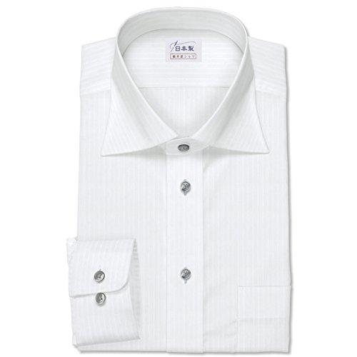 ワイシャツ 軽井沢シャツ [A10KZW260]ワイドスプレッド ホワイトドビー