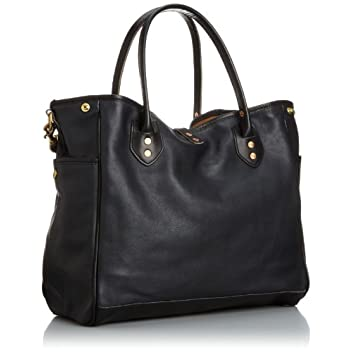 Leather Tote w/ Strap 7642: I Blue