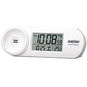 SEIKO CLOCK (セイコークロック) 目覚まし時計 電波 デジタル 大音量 PYXIS (ピクシス) RAIDEN (ライデン) 白パール NR532W