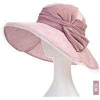 Women's Hat Ms Cap Collapsible Summer Autumn Uv Sun Hat Beach Hat Out Cap (Color : Purple)