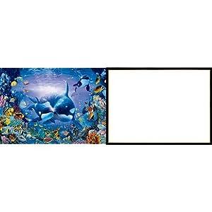 3000ピース ジグソーパズル 究極パズルの達人 ラッセン ブリリアントパッセージ スモールピース(73x102cm)+ジグソーパネル 木製ゴールドライン シャインブラック (73x102cm)