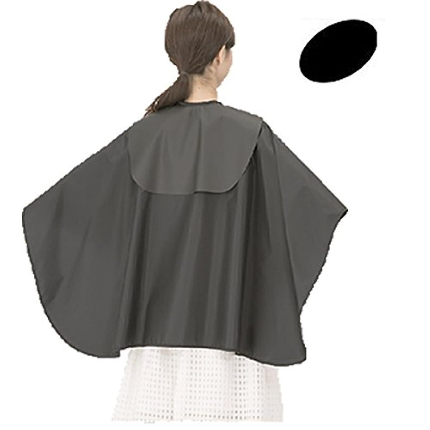黒黒たるみカトレア No.9101 スカットクロス ヘアダイL (パーマ?カラーリング?シャンプー対応)ナイロン100% バックシャンプーケープ (黒)