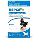 RSPCA Montly Heartworm Tablets for Small Dogs, 6 Tablets