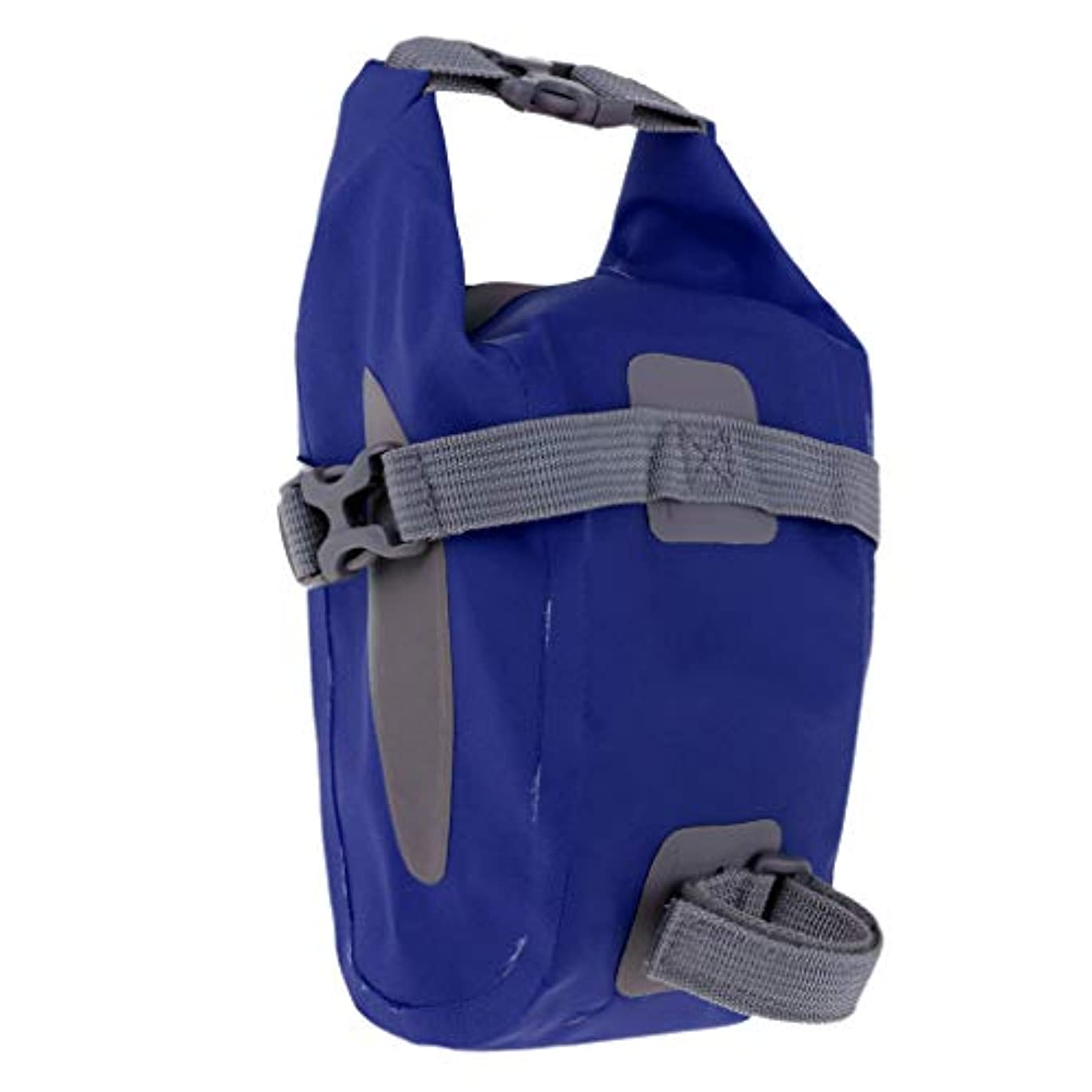 持つ現代のメルボルン自転車 サドルバッグ 全防水 大容量 軽量 ストラップ式 安定感抜群 自転車バッグ 全7色 - 青