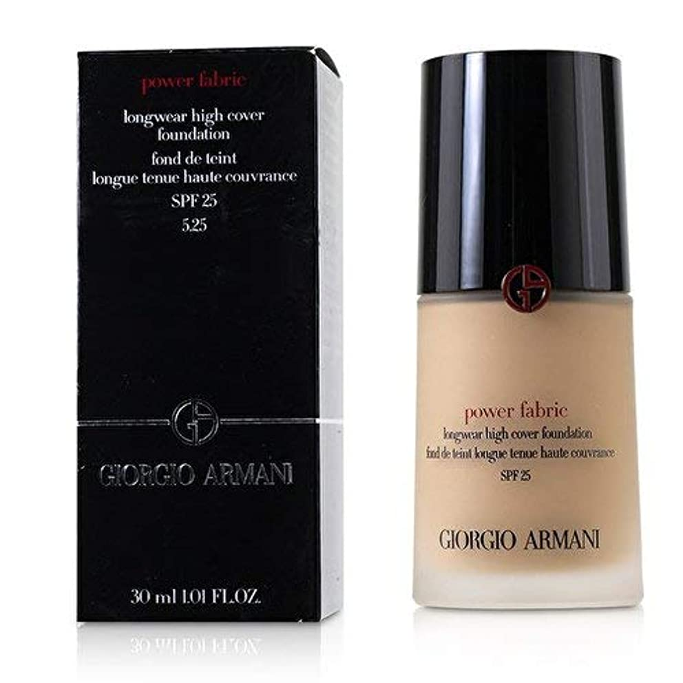 ジョルジオアルマーニ Power Fabric Longwear High Cover Foundation SPF 25 - # 5.25 30ml/1.01oz並行輸入品