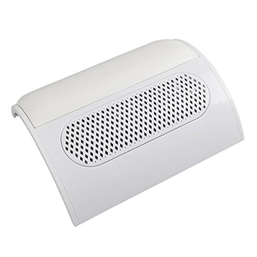 スパイりんごめんどり(ビュティー)Biutee メタリックホワイト ネイルダスト 3連ファン集塵機 集塵バック3枚付き ダストクリーナー ジェルネイル ネイル機器 (白)