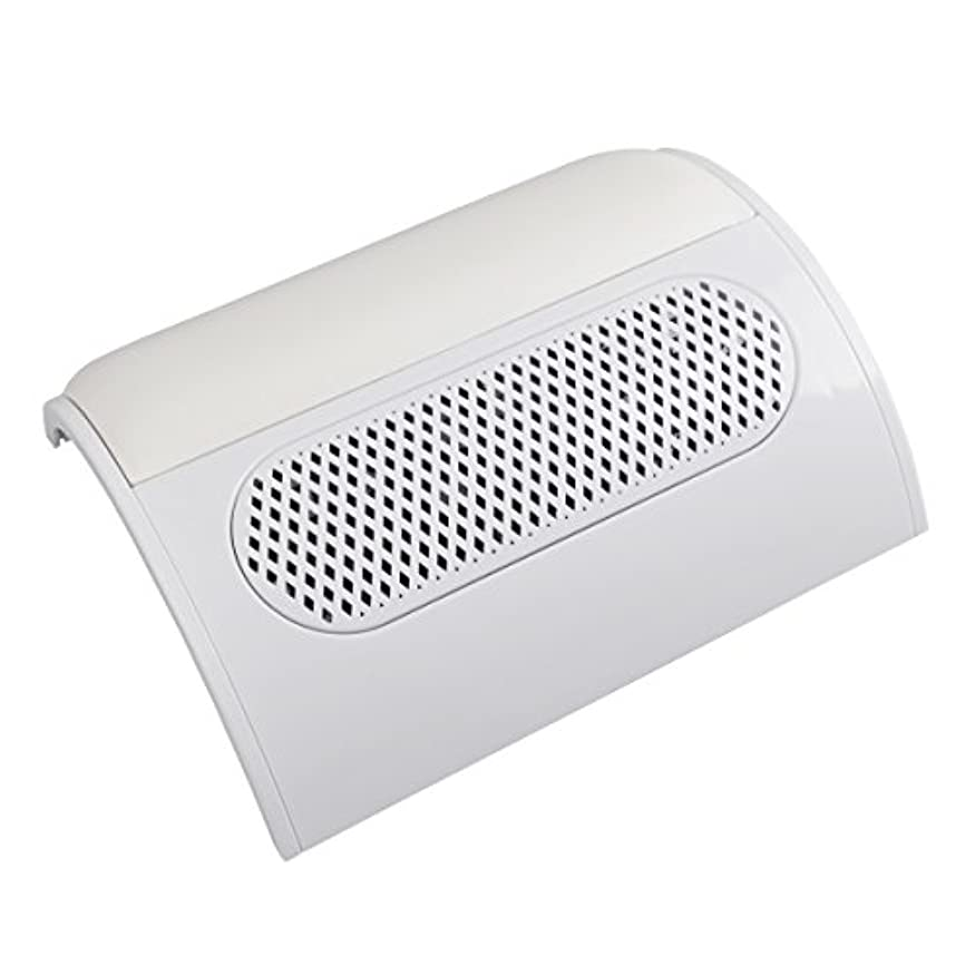 ティッシュエレメンタル静脈(ビュティー)Biutee メタリックホワイト ネイルダスト 3連ファン集塵機 集塵バック3枚付き ダストクリーナー ジェルネイル ネイル機器 (白)