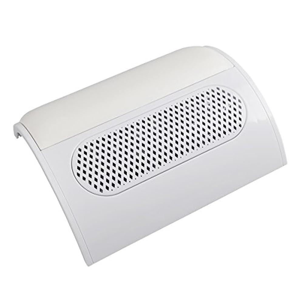 (ビュティー)Biutee メタリックホワイト ネイルダスト 3連ファン集塵機 集塵バック3枚付き ダストクリーナー ジェルネイル ネイル機器 (白)