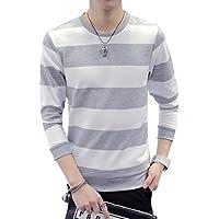 (エムズダイス)M's Dice メンズ ボーダー Tシャツ カットソー 長袖 トレーナー ロンT ユニセックス XS~XL 3色