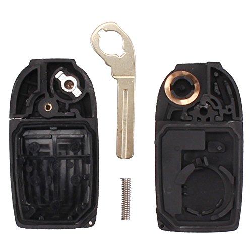 Keyfobworld 5 BUTTON Keyless Remote Key Case KEY FOB CASE Uncut BLADE for VOLVO S80 S60 V70 XC70 XC90 VOLVO 2004-2011 No chip
