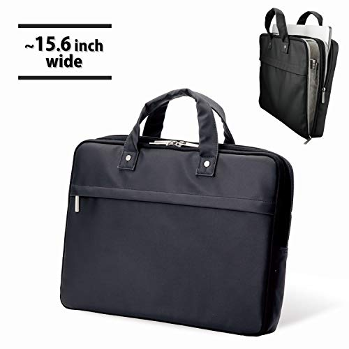 6301deaf73b3 落ち着いた光沢のある上質なコーティング生地を使用した薄型キャリングバッグ。◇パソコンと書類を分けて収納できる、二気室タイプの薄型キャリングバッグです。15.6  ...