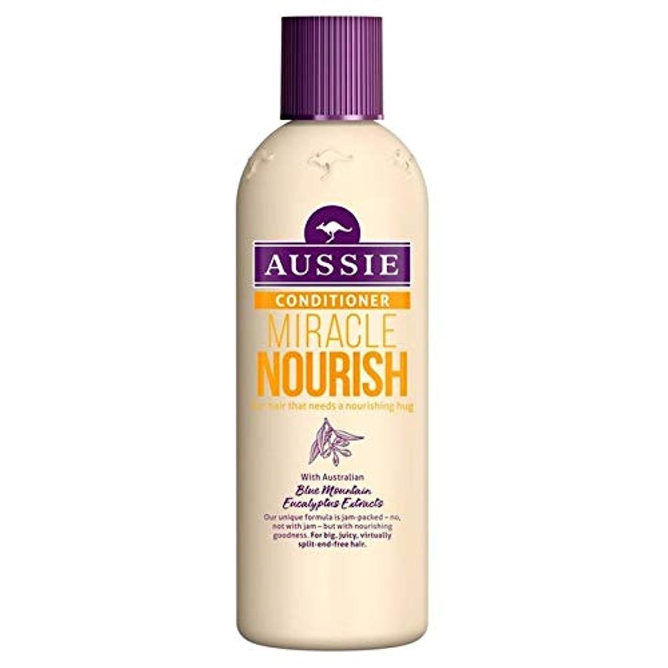 導出したがってなす[Aussie ] オーストラリアの奇跡ナリッシュコンディショナー250ミリリットル - Aussie Miracle Nourish Conditioner 250ml [並行輸入品]
