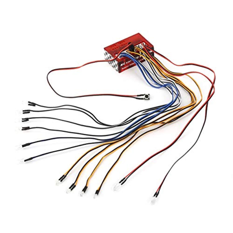 多機能LEDライトキットSyestm for 1/10 1/8 RC Car HSP TAMIYA CC01 SCX10