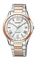 [シチズン] 腕時計 エクシード エコ・ドライブ電波時計 ダイレクトフライト ペア 「いい夫婦の日」限定モデル 700本限定 CB1114-61W メンズ マルチカラー