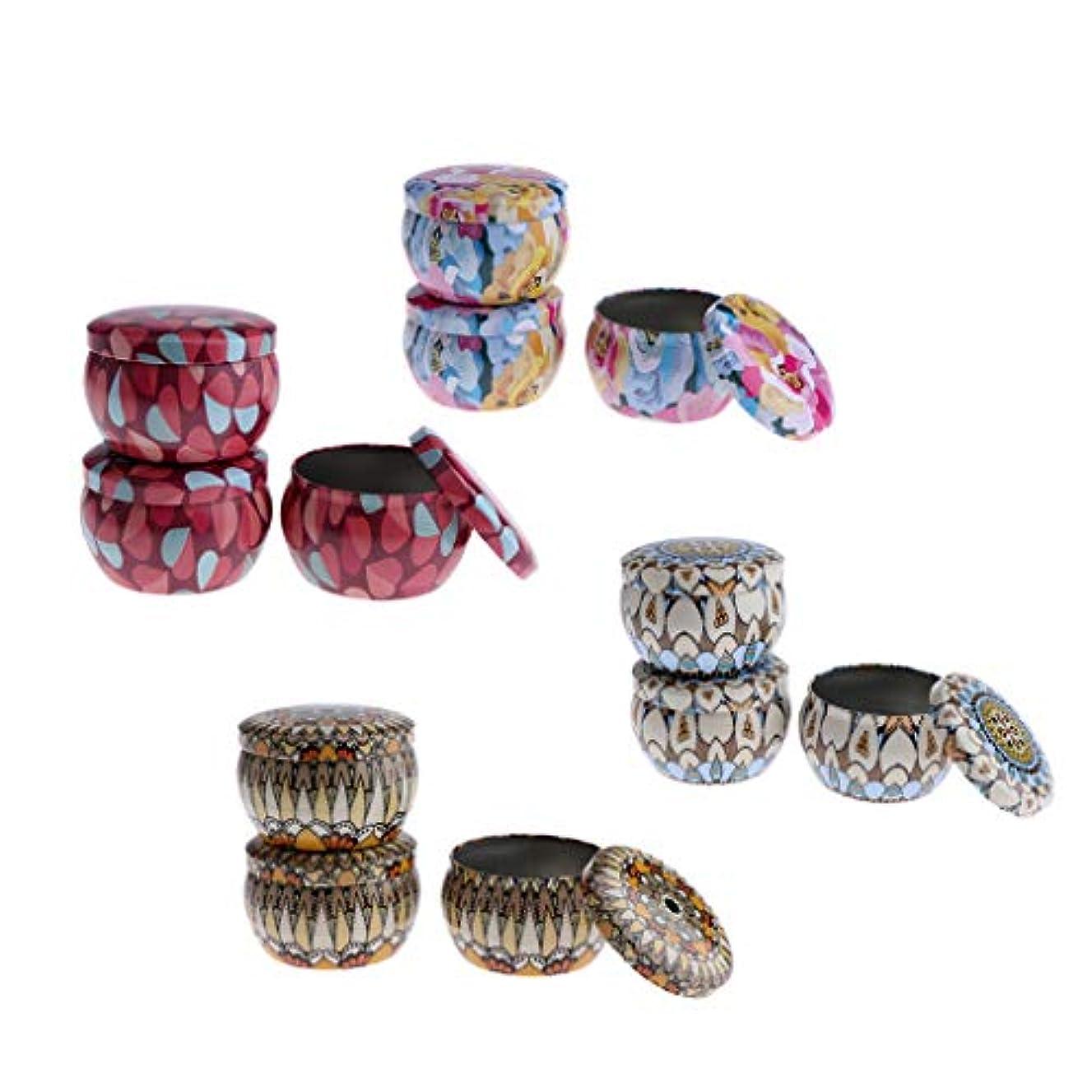 贈り物真珠のような手のひら12個 キャンドル缶 小物入れジュエリー 収納ケース DIY