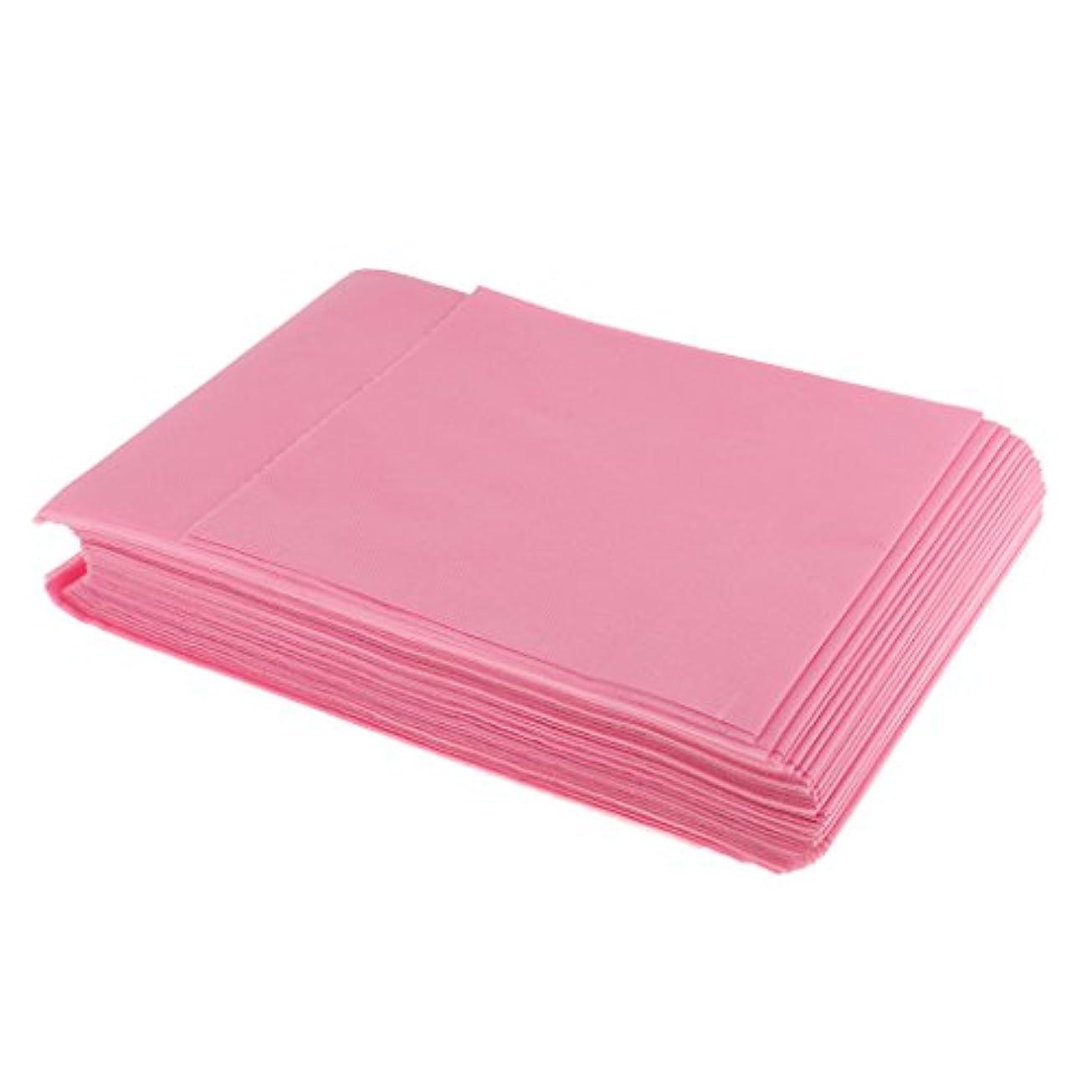 放出憤る配当SONONIA 使い捨て 美容室/マッサージ/サロン/ホテル ベッドパッド 無織PP 衛生シート 10枚 全3色選べ - ピンク