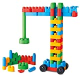 Hape 760008 Poly Creative Builder Kit Building Blocks (80 Piece), Multicolor [並行輸入品]